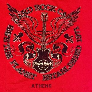 Athens Red Hard Rock Cafe T-Shirt